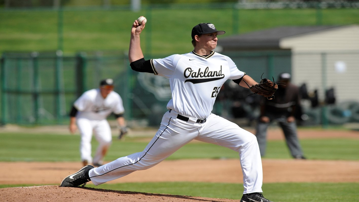 baseball oakland university athletics